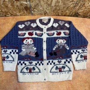 Woolrich Raggedy Ann Andy cardigan sweater Small